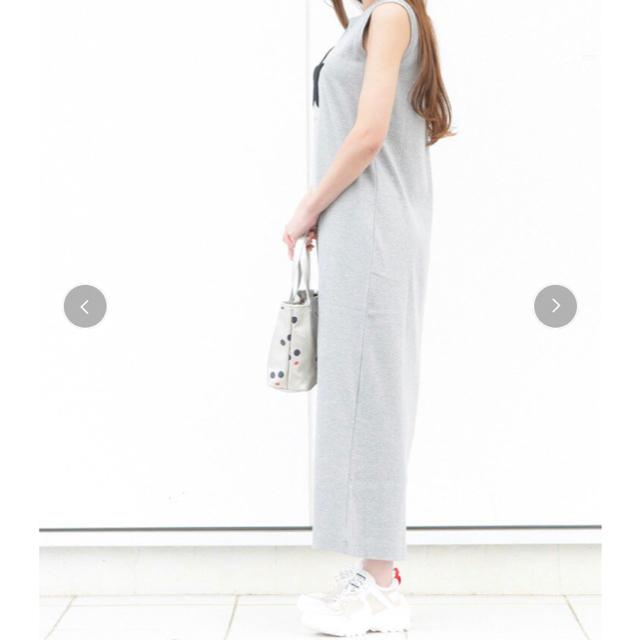 DOUBLE STANDARD CLOTHING(ダブルスタンダードクロージング)のダブル スタンダード クロージング   ワンピース フライスロングノースリーブ  レディースのワンピース(ロングワンピース/マキシワンピース)の商品写真