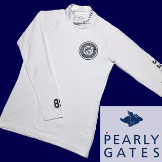 PEARLY GATES - 美品 PEARLYGATES モックネック 長袖 ロング Tシャツ ホワイト 4