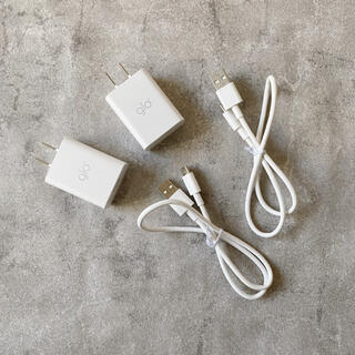 glo - 新品❣️glo充電器 2セット アダプター