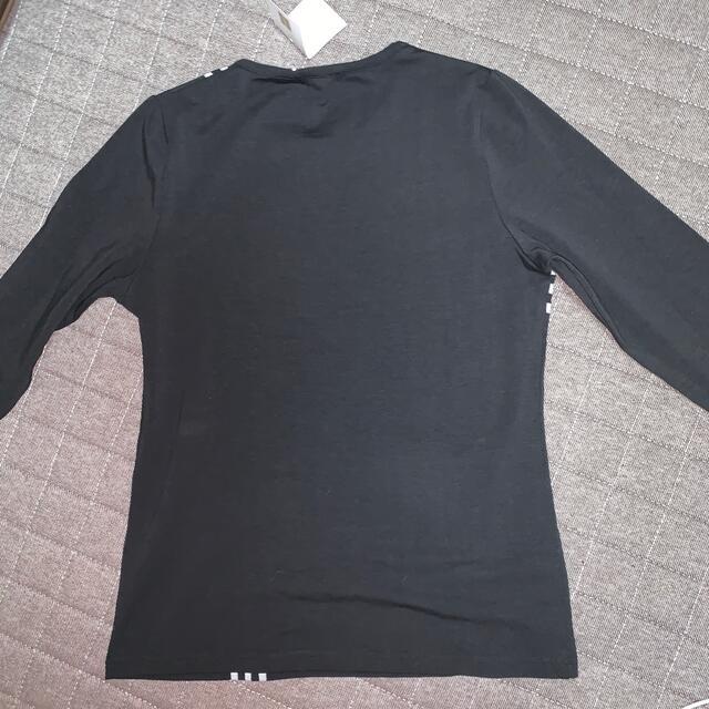 BURBERRY(バーバリー)の新品 バーバリー ロンT 黒 L  長袖シャツ ホースマーク レディースのトップス(Tシャツ(長袖/七分))の商品写真