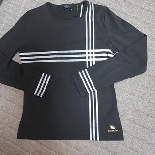 BURBERRY - 新品 バーバリー ロンT 黒 L  長袖シャツ ホースマーク