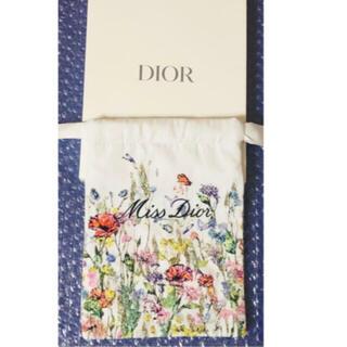 Dior - Dior 巾着ポーチ 刺繍 ポーチ ノベルティー  ミスディオール