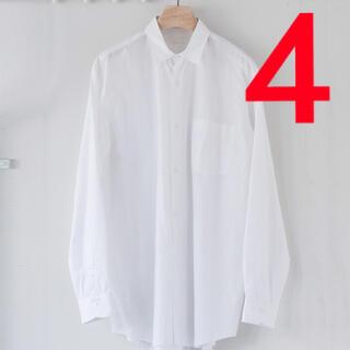 COMOLI - COMOLI 新型コモリシャツ ホワイト 21aw サイズ4