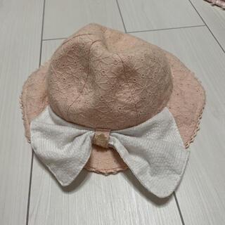 プティマイン(petit main)のプティマイン 帽子 48cm ピンク リボン(帽子)