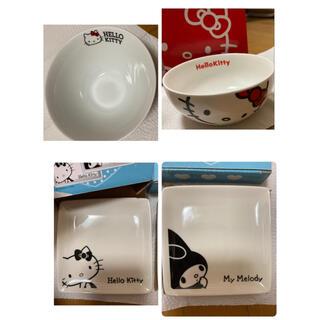ハローキティ(ハローキティ)のKittyちゃんの茶碗とお皿  6枚セット(食器)