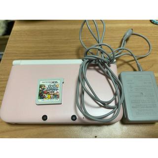 ニンテンドー3DS(ニンテンドー3DS)の3DSLL  本体 ピンク 充電器(家庭用ゲーム機本体)