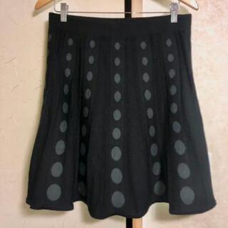 H&M - H&M エイチアンドエム フレア スカート S ブラック 黒