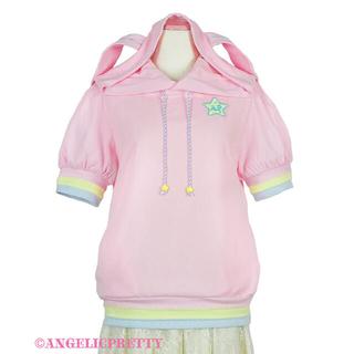 アンジェリックプリティー(Angelic Pretty)のAngelicPretty カラフルStarパーカー ピンク 新品未着用(パーカー)
