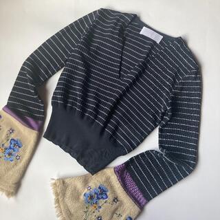 マメ(mame)のmame kurogouchi 袖刺繍 ニット トップス マメクロゴウチ(ニット/セーター)