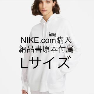 sacai - 未使用 NIKE sacai white hoodie パーカー L NRG