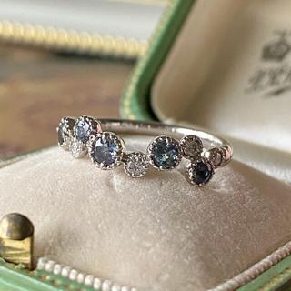 天然アレキサンドライト 天然ダイヤモンド プラチナリング ソーティング付き