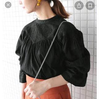 IENA SLOBE - スローブイエナ ドビーローン刺繍ブラウス