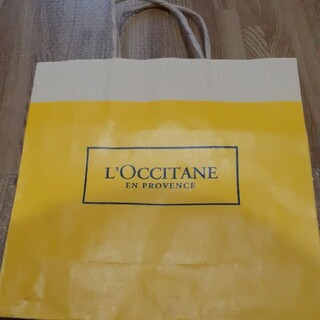ロクシタン(L'OCCITANE)のL'OCCITANE ロクシタン 紙袋 ショップ袋 マスタード イエロー(ショップ袋)