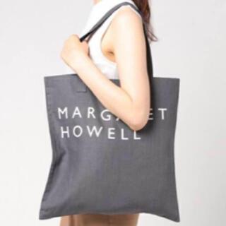 マーガレットハウエル(MARGARET HOWELL)の新品未使用 MHL.LINEN LOGO BAG グレー(トートバッグ)