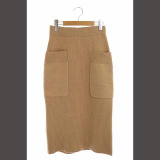 ドゥロワー(Drawer)のドゥロワー Drawer 9Gアゼカシミヤロングニットスカート 1 キャメル(ロングスカート)