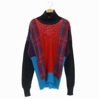 イッセイミヤケ(ISSEY MIYAKE)のイッセイミヤケ ISSEY MIYAKE セーター 2 マルチカラー 黒 赤 青(ニット/セーター)