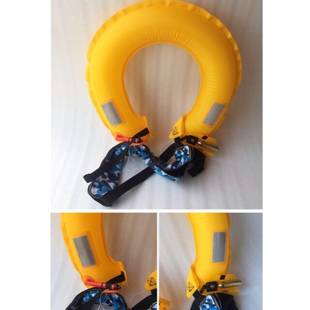 ライフジャケット 腰巻き 救命胴衣 ベルトタイプ 釣り 迷彩柄 スポーツ/アウトドアのフィッシング(ウエア)の商品写真