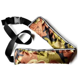ライフジャケット 腰巻き 救命胴衣 ベルトタイプ 釣り 迷彩柄(灰色)1