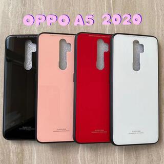 オッポ(OPPO)のシンプル&可愛い♪耐衝撃背面9Hガラスケース OPPO A5 2020(Androidケース)