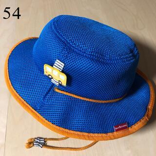 ミキハウス(mikihouse)のホットビスケッツ★2way メッシュハット 54 車 青&オレンジ(帽子)
