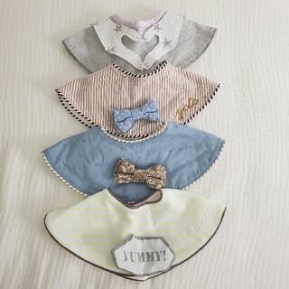 プティマイン(petit main)のマールマール MARLMARL スタイ 新生児 離乳食 ベビーフォト お祝い(ベビースタイ/よだれかけ)