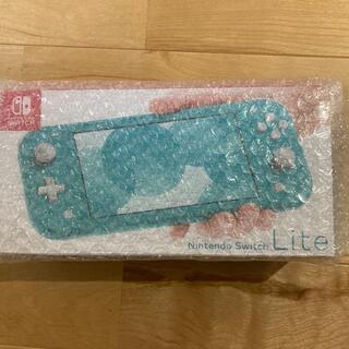 ニンテンドースイッチ(Nintendo Switch)の新品未使用Nintendo Switch lite ターコイズ 店舗印なし(携帯用ゲーム機本体)