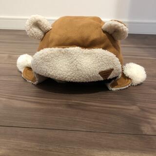 プティマイン(petit main)のポンポン付きクマ耳キャップ(帽子)