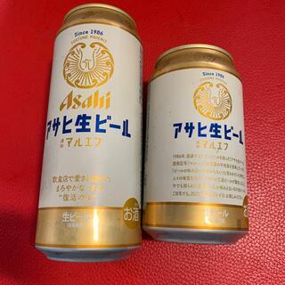 アサヒ(アサヒ)のアサヒ生ビールマルエフ500&350ml合計2本(ビール)