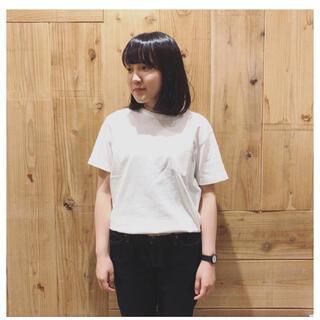 ムジルシリョウヒン(MUJI (無印良品))の無印 ポケット付き半袖Tシャツ オフ白(Tシャツ(半袖/袖なし))