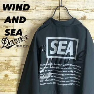 WIND AND SEA コラボ ナイロン ジャケット ビックロゴ ビックサイズ