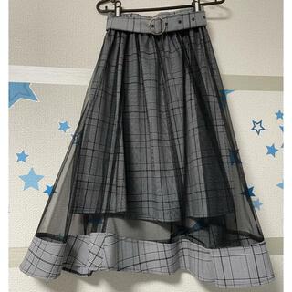 イング(INGNI)のオーガンジースカート(ロングワンピース/マキシワンピース)