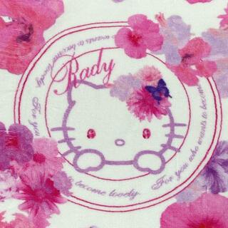 レディー(Rady)のRady キティコラボ フェイスタオル タオル ハンカチ(ハンカチ)