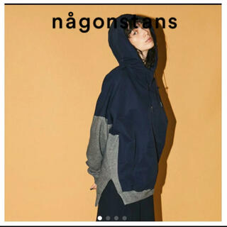 ENFOLD - ナゴンスタンス nagonstans バックウォームコンビプルオーバー パーカー
