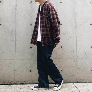 ビームス(BEAMS)のbeams オーバーサイズシャツ Lサイズ ブラウン(シャツ)
