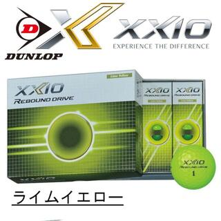 DUNLOP - 新品 リバウンド ドライブ ゴルフボール 1ダース 12個入り YE