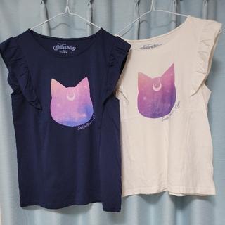 セーラームーン(セーラームーン)のGUセーラームーンコラボ ルナ フリルトップス(Tシャツ(半袖/袖なし))