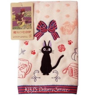 ジブリ - ジブリ 魔女の宅急便黒猫ジジ ハンドタオル (メルシー)