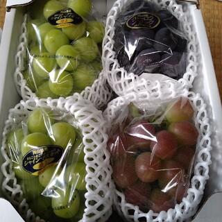 限定販売の超レアぶどう岡山県産マスカットビオレと晴王2房とオーロラブラック(フルーツ)