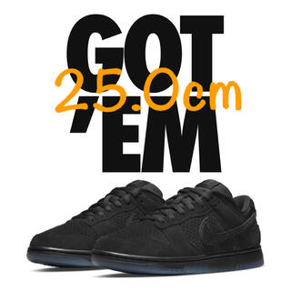 NIKE - 25.0cm NIKE undefeated DUNK LOW 黒 black