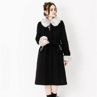 axes femme - アクシーズファム ファー襟ロングコート