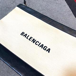 BALENCIAGA BAG - BALENCIAGA /キャンバスクラッチバッグ