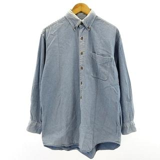 ブルックスブラザース(Brooks Brothers)のブルックスブラザーズ デニムボタンダウンシャツ BDシャツ 長袖 M(シャツ)