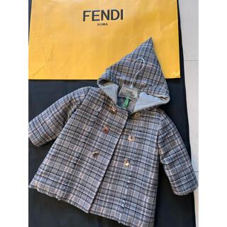 フェンディ(FENDI)のFendi キッズ 中綿入り ウールコート 美品🌸(ジャケット/上着)
