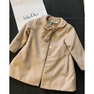 ディオール(Dior)のbaby dior  ベージュピンク ボウタイコート🌸美品(コート)