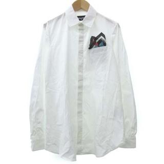 ディースクエアード(DSQUARED2)のディースクエアード シャツ 長袖 ポケットチーフ イタリア製 国内正規 40 白(シャツ/ブラウス(長袖/七分))
