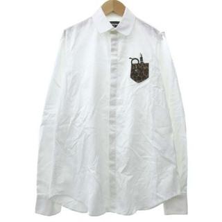 ディースクエアード(DSQUARED2)のディースクエアード オックスフォード シャツ イタリア製 国内正規 42 白(シャツ/ブラウス(長袖/七分))