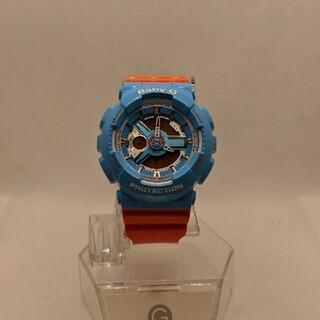 ベビージー(Baby-G)のG-SHOCK baby-G BA-110NC スカイブルー&オレンジ(腕時計)