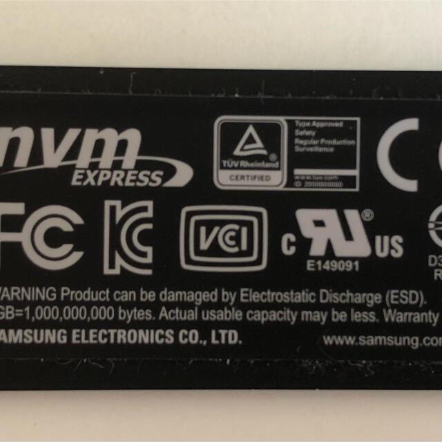 SAMSUNG(サムスン)のSamsung 970 evo plus 500GB スマホ/家電/カメラのPC/タブレット(PCパーツ)の商品写真