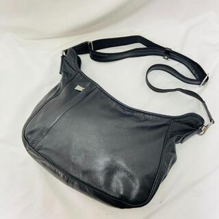aniary - ☆美品☆アニアリ ショルダーバッグ カーフレザー本革メンズ黒ブラック鞄かばん