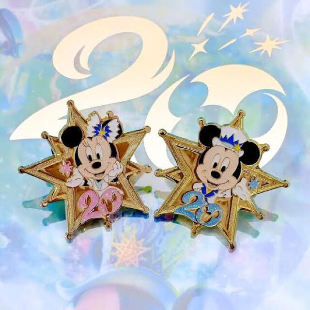 Disney(ディズニー)のディズニーシー20周年ピンバッチ ミッキー ミニー アブーズバザール ゲーム景品 エンタメ/ホビーのアニメグッズ(バッジ/ピンバッジ)の商品写真